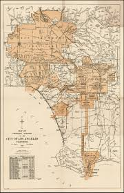 Map Los Angeles Map Of Territory Annexed To The City Of Los Angeles Prepared