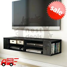 Tv Wall Mount With Built In Shelf Wall Mount Media Console Entertainment Center Tv Stand Floating