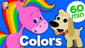 coloring and music for kids rainbow horse color compilation