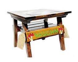 reclaimed wood game table reclaimed wood table etsy