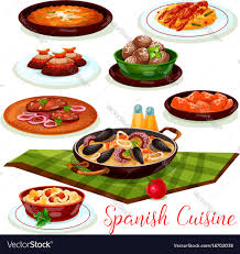cuisine traditional dinner diches icon vector image
