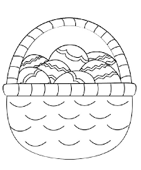 easter basket with eggs coloring page easter egg basket coloring page crafts and worksheets for