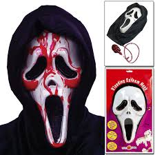 scream halloween costumes kids costmad halloween bleeding scream mask screaming bloody face fancy