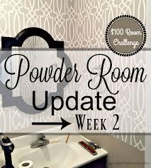 powder room update week 2 a purdy little house