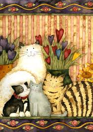 cats in the parlor decorative art flag from toland home garden
