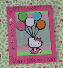 hello kitty greetings cricut cartridge birthday card times 2