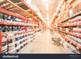 blurred large hardware store america defocused stock photo
