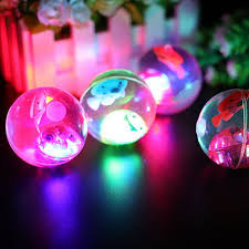soft rubber led jumping bouncy bouncing light balls