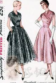 1940s dresses 1940s beautiful evening party dress pattern fitted surplice bodice