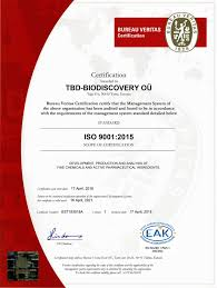 bureau veritas global shared services iso 9001 2015 certification announcement biodiscovery