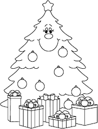 decorating christmas tree coloring pages womanmate com