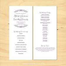 playbill wedding program wedbill a playbill like wedding program template 14 99 via