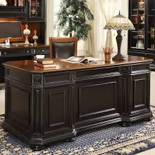 Home Office Desk Furniture by Riverside Allegro Credenza Computer Desk With Optional Hutch