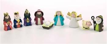 Christmas Baking Decorations Uk by Christmas Cake Decoration Topper Claydough Nativity Set 9 Piece In