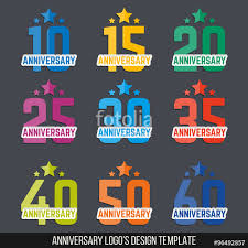 40th anniversary color vector set of anniversary color signs symbols 10 15 20 25 30