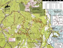 Colorado Tourism Map by Rocky Mountain National Park Snowmobiling Grand Lake Co