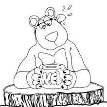 honey coloring pages reading u0026 learning drawing for kids kids