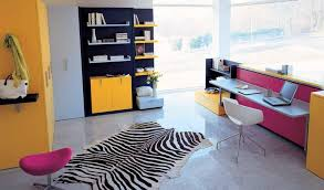 Modern Teenage Bedroom Ideas - yellow color schemes for modern teenage bedroom with study room