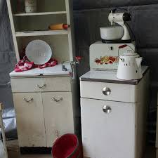 Antique Metal Cabinets For The Kitchen by Best Vintage 1950 U0027s White Metal Cabinet With Enamel Top Hutch In