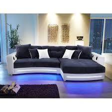couch schwarz grau wohnlandschaft laredo sofa ecksofa in schwarz grau greige led