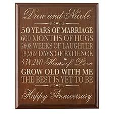 50th wedding anniversary gifts for parents personalized 50th wedding anniversary wall plaque
