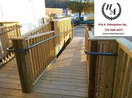 Wheelchair Ramp Handrails H U0026 A Enterprises Inc 770 560 4477 Atlanta Ada Handicap Ramp