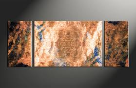3 piece abstract oil paintings brown photo canvas