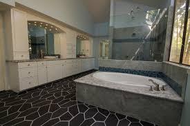 Bathtub Los Angeles Double Vessel Sink Bathroom Traditional With Grey Shower Tile Los