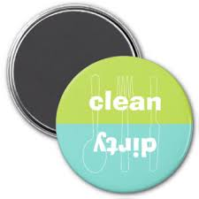 Dirty Clean Dishwasher Magnet Clean Dirty Dishwasher Refrigerator Magnets Zazzle Ca