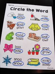 Oa Worksheets Oa Ow Worksheets Activities No Prep Worksheets Phonics And