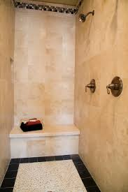 showers country doorless walk in shower designs with seat and