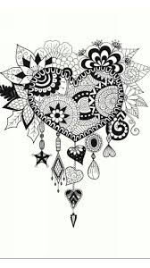 henna coloring pages 364 best colouring hearts love zentangles images on