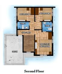 4 bedroom 2 story house plans 4 bedroom two storey house model with floor plans home interior
