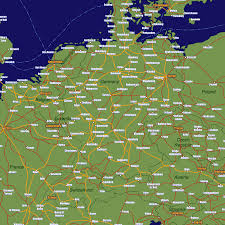 Map Of Northern France by Germany Rail Travel Map European Rail Guide