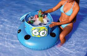 sportsstuff 60 quart inflatable floating cooler the green head