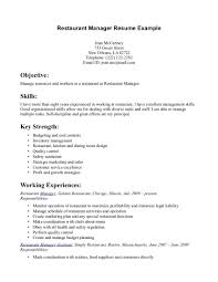 Skills For Resume Examples For Customer Service by Restaurant Manager Skills Resume Free Resume Example And Writing