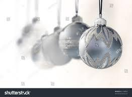 blue grey luxury christmas ornaments focus stock photo 61168003