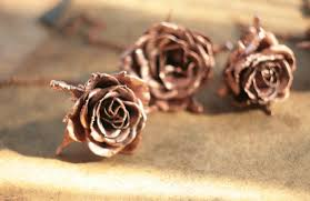 copper electroforming gift necklace roses copper electroformed metal