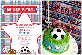 sports themed baby shower ideas baby shower eat sleep play pizzazzerie