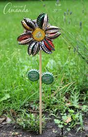 bottle cap flower turn old bottle caps into a fun garden craft