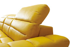 Modern Yellow Sofa Divani Casa Leven Modern Yellow Leather Sectional Sofa