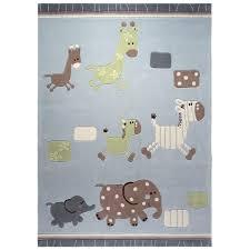 tapis chambre bébé garçon tapis lucky zoo bleu bébé rectangle chambre garçon esprit home