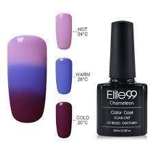 elite99 uv led temperature colour changing gel polish soak off