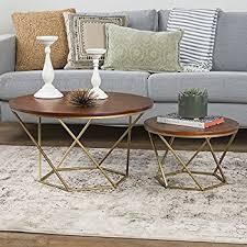 glass nesting coffee tables amazon com new geometric glass nesting coffee tables in black