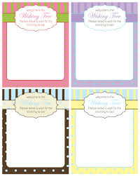 free baby shower wishing tree cards from a party studio babies