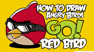 draw angry birds red bird