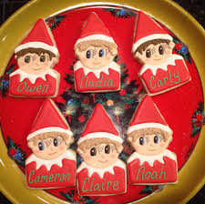 personalized elf on the shelf decorated sugar cookies by i am the