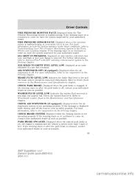 brake sensor ford expedition 2007 3 g owners manual