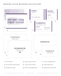 wedding invitations with response cards modern stack wedding invitations wedding invitations by shine