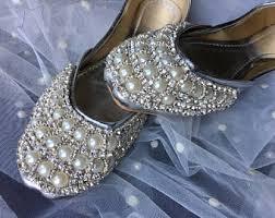 silver shoes women wedding khussa flat shoes women shoes